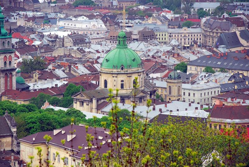 Обзорный снимок старой части города